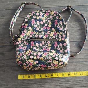 Floral backpack purse